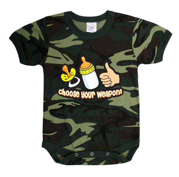 Choose Your Weapon Infant Bodysuit Onesie- 3-6 Mos.