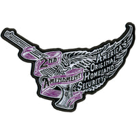"Flying Pistol Ladies Embroidered 8"" X 5"" Patch - Star Spangled 1776"