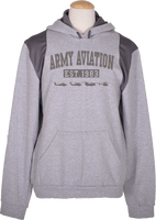 Army Aviation Est 1983 Helicopter Sweatshirt- Grey - Star Spangled 1776