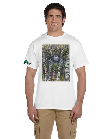 "Hawk Ridge ""Northern Goshawk Attacking"" Unisex T-Shirt"