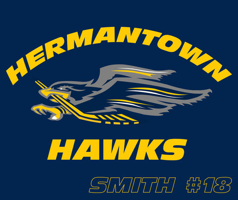 Plush Blanket w/ optional personalization - Hermantown Hawks