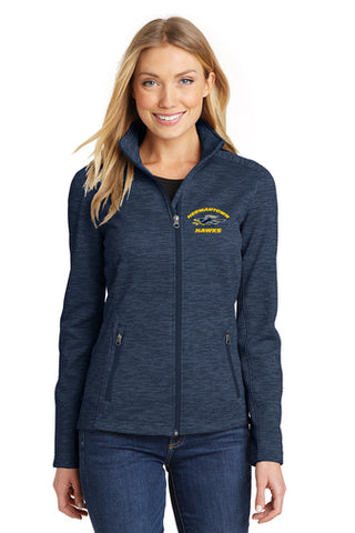 L231 Ladies Digi Stripe Fleece Jacket - Hermantown Hawks