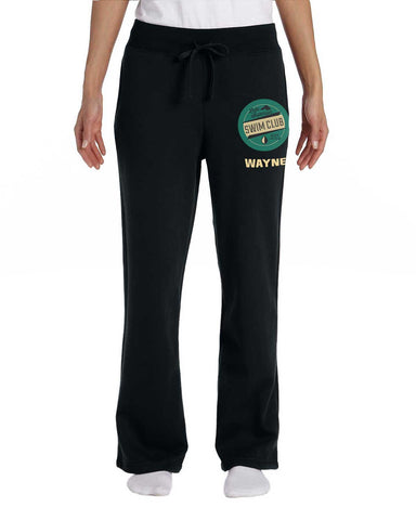 G184FL Black Cotton Blend Sweatpants - Ladies'