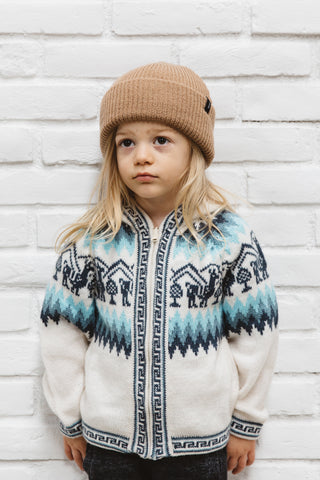 Peruvian Alpaca Kids Zipper Sweater