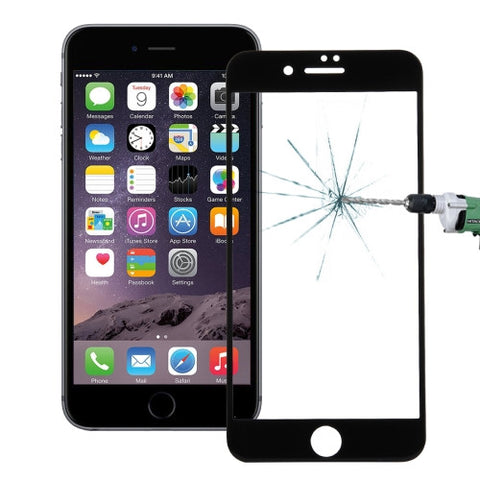 Buy Online  IPhone 7 0.26mm 9H Surface Hardness Explosion-proof Colorized Silk-screen Tempered Glass Full Screen Film(Black) Screen Protectors - MEGA Discount Online Store Ghana