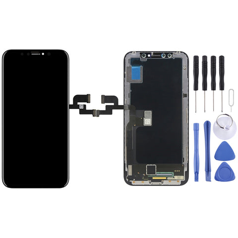 Buy Online  Digitizer Assembly(LCD + Frame + Touch Pad) for iPhone X(Black) Phones Spare Parts - MEGA Discount Online Store Ghana
