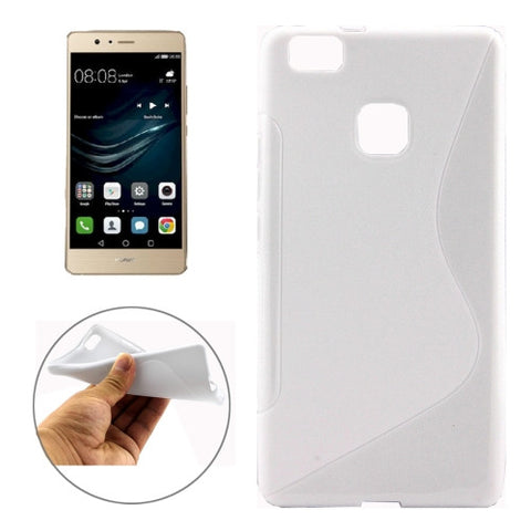 Buy Online  Huawei P9 Lite S-Shaped Soft TPU Protective Cover Case(White) Huawei Cases - MEGA Discount Online Store Ghana