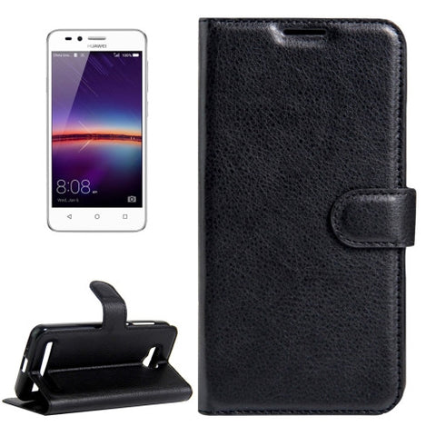 Buy Online  Huawei Y3 II / Y311 Litchi Texture Horizontal Flip Leather Case with Magnetic Buckle & Holder & Card Slots & Wallet(Black) Huawei Cases - MEGA Discount Online Store Ghana