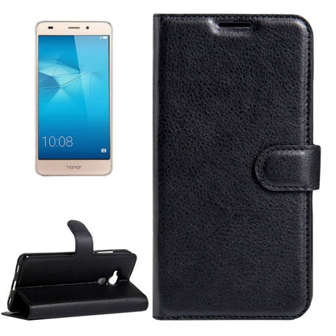 Buy Online  Huawei Honor 5C Litchi Texture Horizontal Flip Leather Case with Magnetic Buckle & Holder & Card Slots & Wallet(Black) Huawei Cases - MEGA Discount Online Store Ghana