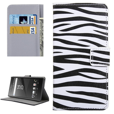 Buy Online  Sony Xperia XA Zebra Pattern Leather Case with Holder & Card Slots & Wallet Sony Cases - MEGA Discount Online Store Ghana