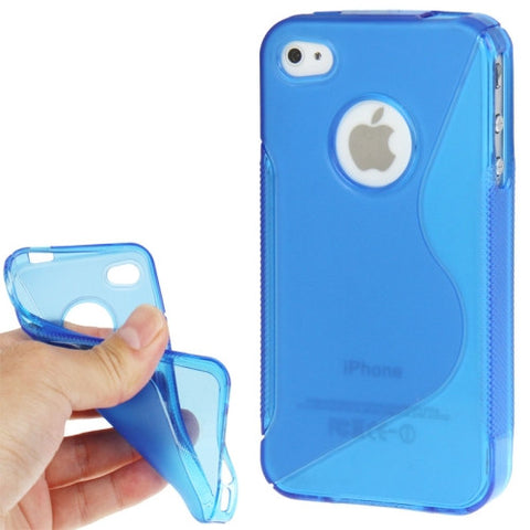 Buy Online  Non-slip Texture Series TPU Cover for iPhone 4 & 4S (Blue) Apple Cases - MEGA Discount Online Store Ghana