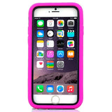 Buy Online  3 in 1 Detachable Shockproof Silicone&Plastic + Screen Protector Hard Cover with Holder for iPhone 6 Plus(Magenta) Apple Cases - MEGA Discount Online Store Ghana