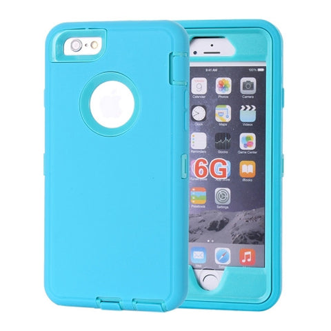 Buy Online  Waterproof Dustproof Shockproof Hybrid Silicone PC Combination Cover for iPhone 6 Plus(Blue) Apple Cases - MEGA Discount Online Store Ghana
