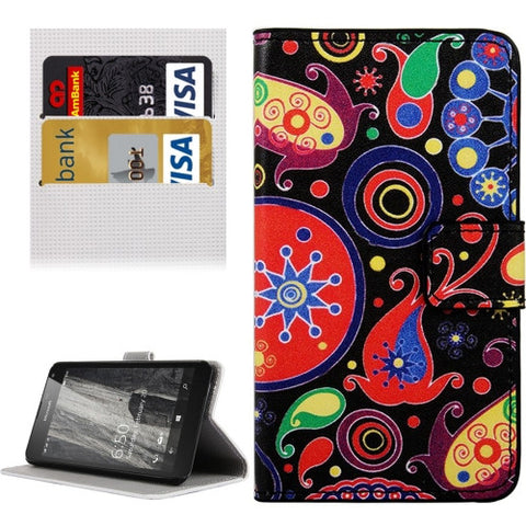 Buy Online  Abstract Flowers Pattern Horizontal Flip Leather Case with Holder & Card Slots & Wallet for Microsoft Lumia 650 Microsoft Cases - MEGA Discount Online Store Ghana
