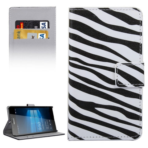 Buy Online  Zebra Stripe Pattern Horizontal Flip Leather Case with Holder & Card Slots & Wallet for Microsoft Lumia 950 XL Microsoft Cases - MEGA Discount Online Store Ghana