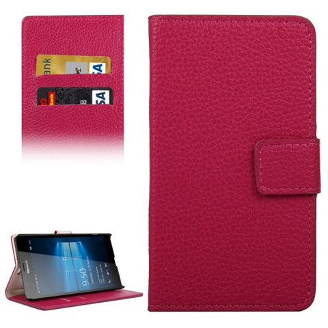 Buy Online  Litchi Texture Horizontal Flip Leather Case with Holder & Card Slots & Wallet for Microsoft Lumia 950 XL(Red) Microsoft Cases - MEGA Discount Online Store Ghana