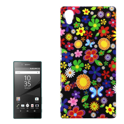 Buy Online  Colorful Flower Pattern PC Protective Case for Sony Xperia Z5 Sony Cases - MEGA Discount Online Store Ghana