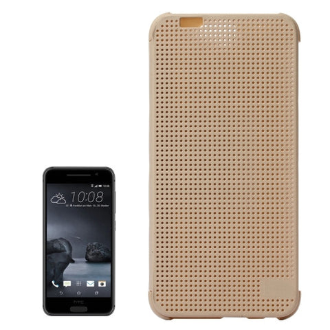 Buy Online  HTC One A9 Mesh Horizontal Flip Silicon + PC Hard Case with Sleep / Wake-up Function(Gold) HTC Cases - MEGA Discount Online Store Ghana