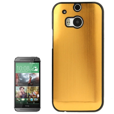 Buy Online  Brush Texture Plastic Case for HTC One M8 (Gold) HTC Cases - MEGA Discount Online Store Ghana