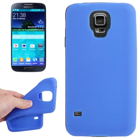 Buy Online  Anti-scratch Silicon Cover for Samsung Galaxy S5 / S V / G900 (Blue) Samsung Cases - MEGA Discount Online Store Ghana