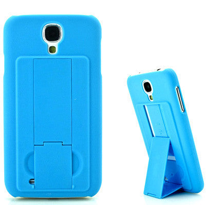 Pure Color Hard Plastic Cover with Holder for Samsung Galaxy S IV / i9500(Blue) Samsung Cases - MEGA Discount Online Store Ghana