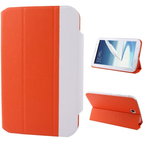 2-color Series Cross Texture Horizontal Flip Leather Cover Holder for Samsung Galaxy Note 8.0 / N5100 (Orange) Samsung Cases - MEGA Discount Online Store Ghana