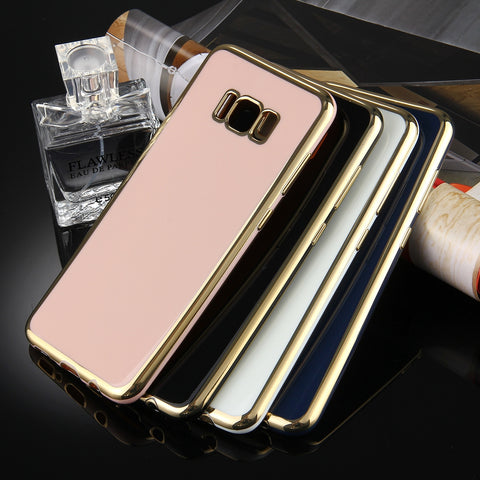 Samsung Galaxy S8 + / G955 Electroplating Soft TPU Protective Cover Case(Black) Samsung Cases - MEGA Discount Online Store Ghana