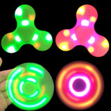 Fidget Spinner + Bluetooth Speaker LED toy Tri Fidget EDC Hand Spinner anti stress Fluorescent For adult Kids funny 2017