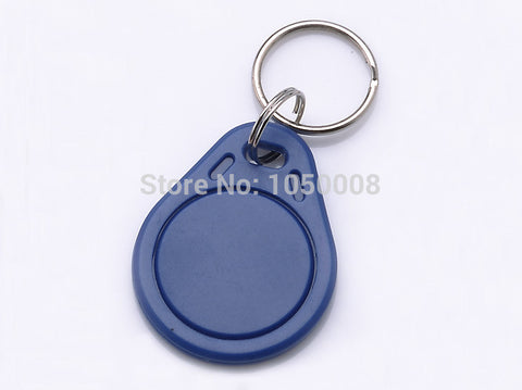 300pcs/lot RFID 13.56 Mhz nfc Tag Token Key Ring IC tags