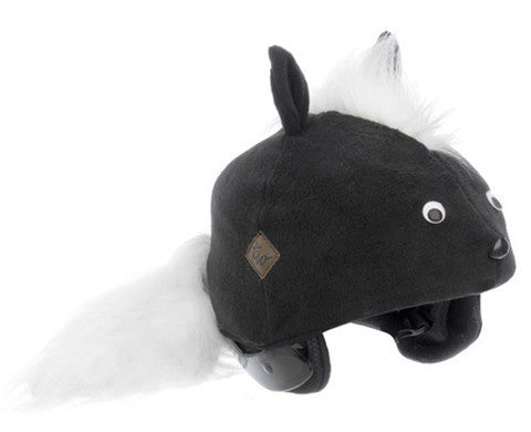 Skunk Helmet Cover - Adult , Adult - Tail Wags Helmet Covers Inc, Tail Wags Helmet Covers