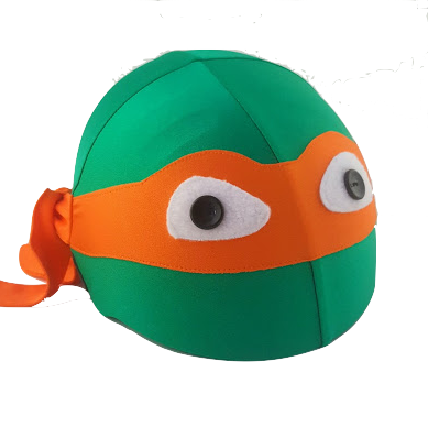 Bandit Helmet Cover (Orange) - One Size , One Size - Tail Wags Helmet Covers Inc, Tail Wags Helmet Covers