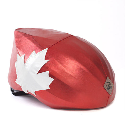Go Canada Go! Helmet Cover - Girls, Boys & Adults , One Size - Tail Wags Helmet Covers Inc, Tail Wags Helmet Covers  - 1