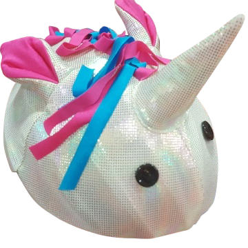 Unicorn Helmet Cover - One Size , One Size - Tail Wags Helmet Covers Inc, Tail Wags Helmet Covers