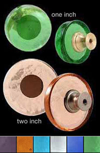 Recycled Glass Round Knobs