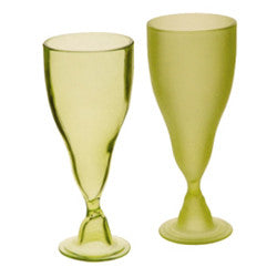 Recycled Glass Willow Goblets