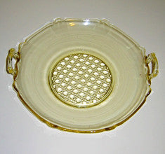 CANE Bottom Depression Glass Bowl