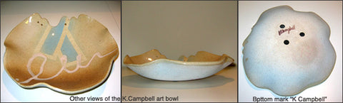 Art Pottery signed by K.Campbell