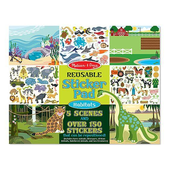 Melissa & Doug - Reusable Sticker Pad, Habitats