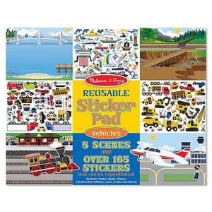 Melissa & Doug, Melissa & Doug - Reusable Sticker Pad, Vehicles, Toys