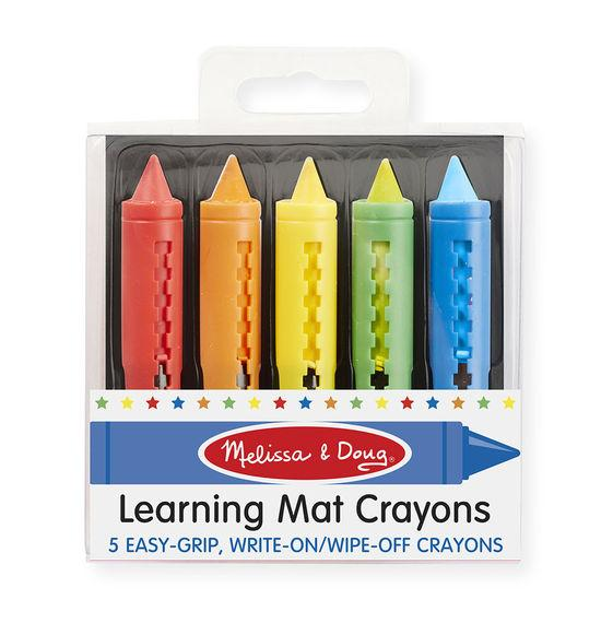 Melissa & Doug - Learning Mat Crayons (5 Colors)