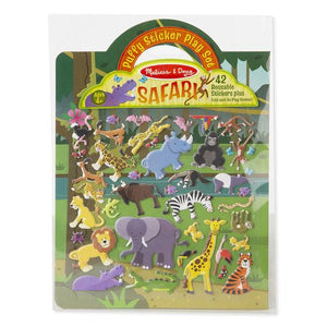 Melissa & Doug, Melissa & Doug - Puffy Sticker Play Set, Safari, Toys