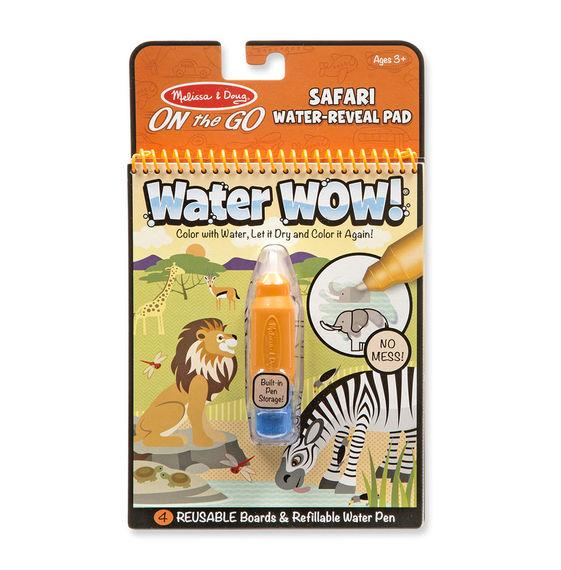 --Melissa & Doug, Melissa & Doug - Water Wow! Safari Water Reveal Pad, ON the GO Travel Activity, Toys--