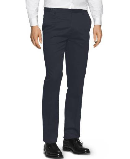 --Calvin Klein, Calvin Klein Men's Slim Fit Refined Twill Pant Office Navy, --