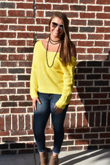 Sunshine on a Cloudy Day Sweater: Yellow