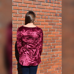 Gravity of You Top: Burgundy