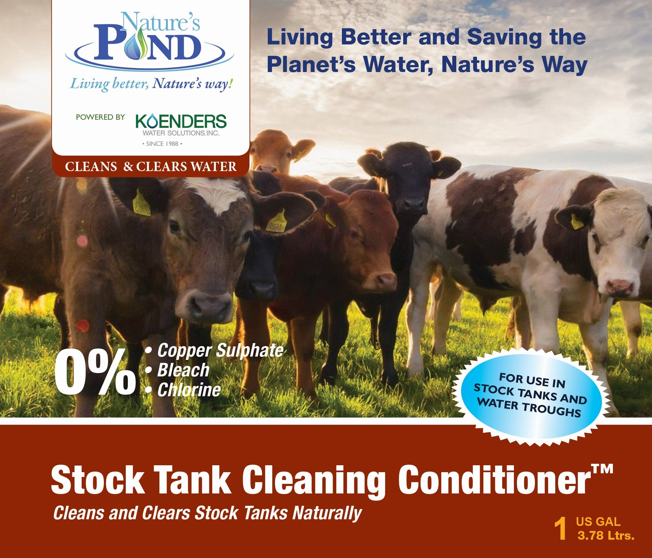 Nature's Pond 'Stock Tank Cleaning Conditioner'