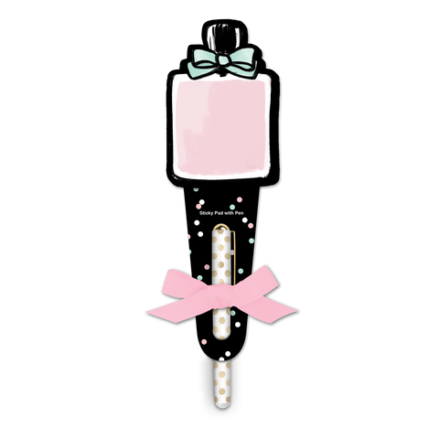 Perfume Bottle Sticky Pad With Pen