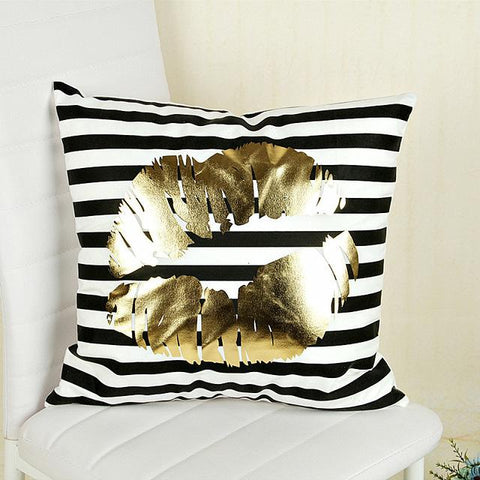 Gold Foil Decorative Pillow Case Covers