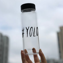 Load image into Gallery viewer, Lifestyle Water Bottle Bottle (Clear)  - S500 #YOLO