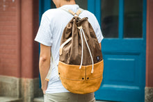 Load image into Gallery viewer, Trip Canvas Backpack, Rucksacks - Brown (for Him)